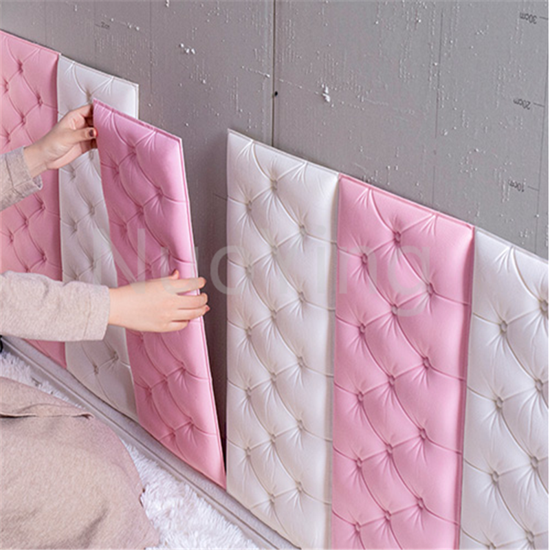 Self-adhesive Bedside Soft Bag Baby Bumper Wall Stickers Headboard Soft Bag Wall Surrounding Children's Room Custom Tatami