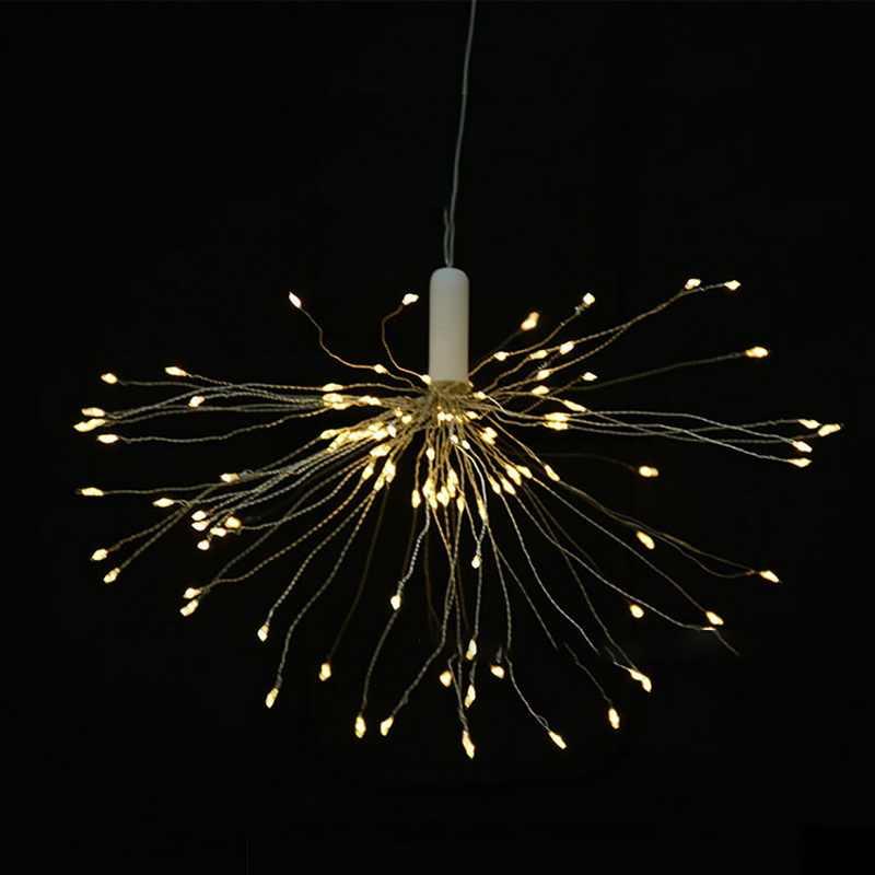 銅線 LED 花火 8 モードストリングライトリモコンバッテリー妖精ライト防水クリスマスフェスティバルの装飾