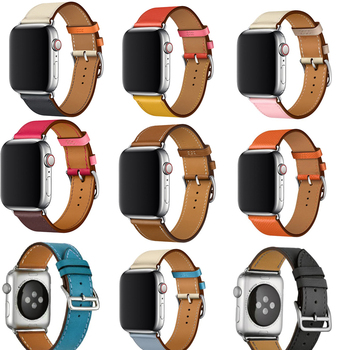 цена на 3D Curved Tempered Glass Film For Apple Watch band leather flim Screen Protector 38mm 42mm 44mm 40 for iwatch series 5/4/3/2/1