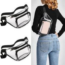 Женщины девушка путешествия талии пакет праздник портмоне PVC прозрачный мешок бумажника мешок