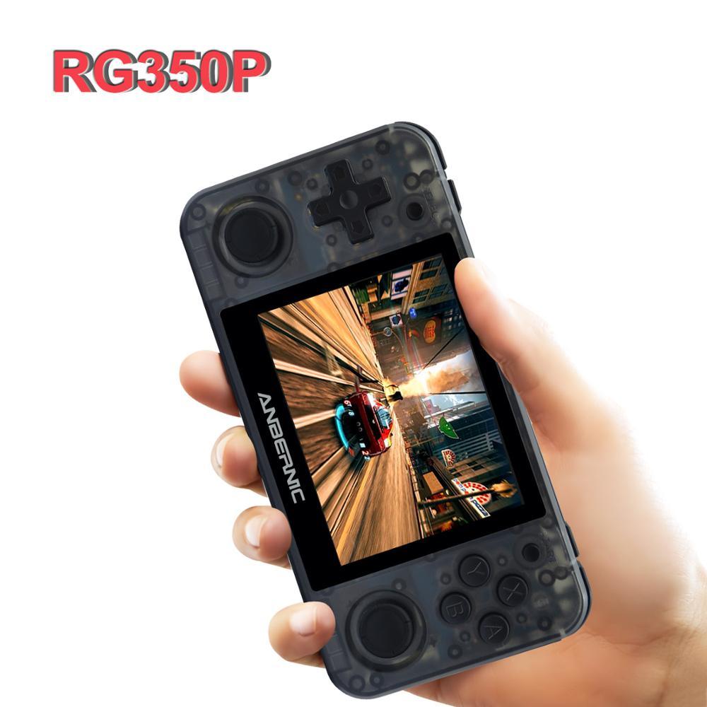 Anbernic rg350p 3.5 polegada ips retro handheld console de jogos 64bit ps1 gb fc clássico 10000 jogos hd tv para fora jogador de jogo de bolso de vídeo
