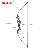 51 Inches Straight Pull Bow 30/40/50 Lbs with Rest for Right Handed for Archery Hunting Shooting Outdoor Sports