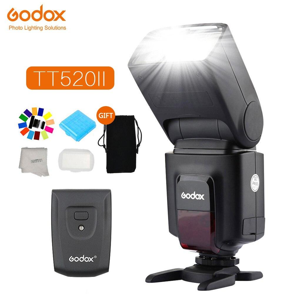 Godox TT520 II Flash Speedlite TT520II Built-in 433MHz Wireless Signal Reception For Canon Nikon Pentax Olympus DSLR Cameras
