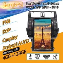Autoradio multimédia Android pour TOYOTA Land Cruiser Prado 150, 2010 – 2013, lecteur Audio stéréo, enregistreur, unité de navigation GPS Tesla