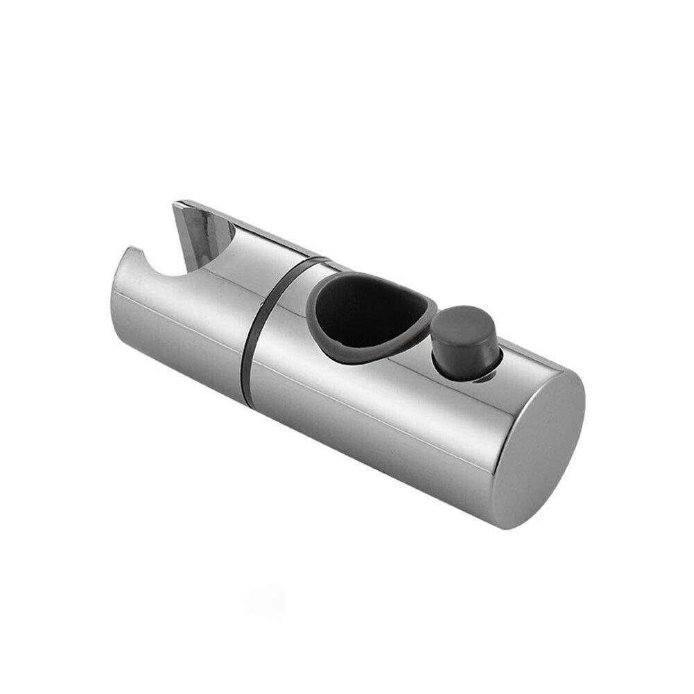 Shower Head Handset Holder Replacement ABS Chrome Shower Rail Head Slider Holder Adjustable Bracket Shower Holder 19/22/25mm