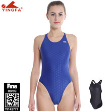 Yingfa profissional uma peça de banho maiô feminino esportes corrida competição sharkskin fina aprovado maiô