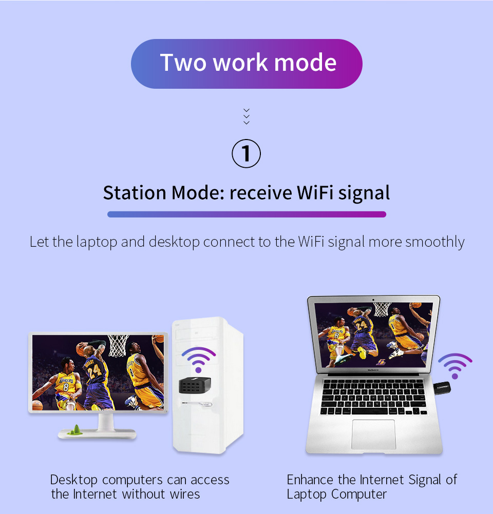 650M-1300Mbps 2.4G&5G Dual Band USB Wireless Wifi Adapter RTL8811/RTL8812 802.11AC High Speed Network Card For Laptop Desktop PC 6