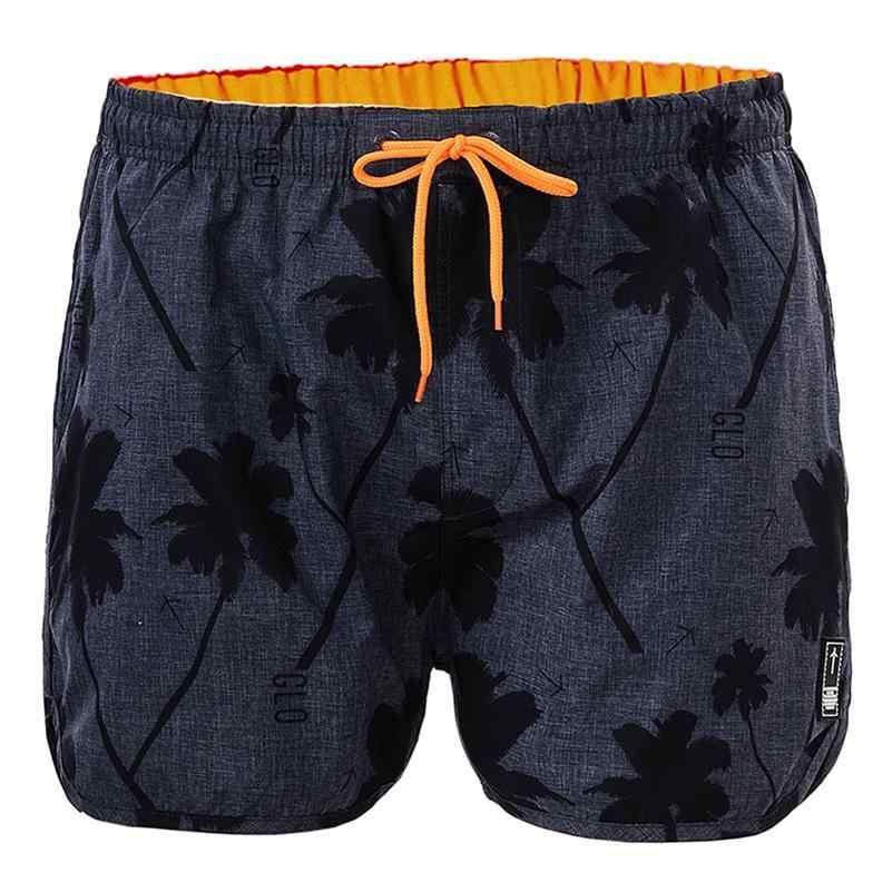 GLO-STORY masculino 2020 verão praia shorts homens casual cordão cintura coconut tree print board swimshorts MTK-1748