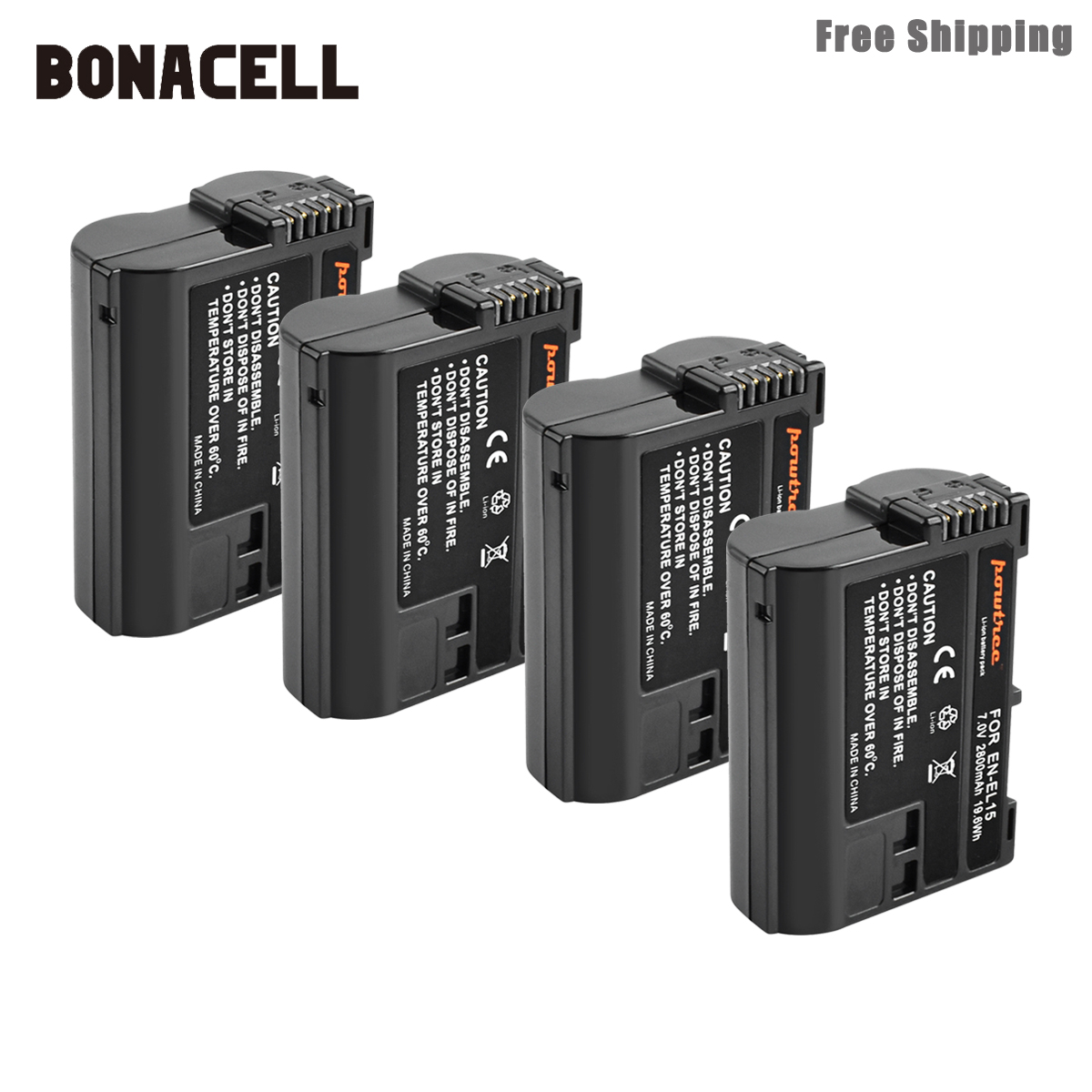 Image 3 - Bonacell 2800mAh EN EL15 ENEL15 EN EL15 Camera Battery For Nikon DSLR D600 D610 D800 D800E D810 D7000 D7100 D7200 L15-in Digital Batteries from Consumer Electronics