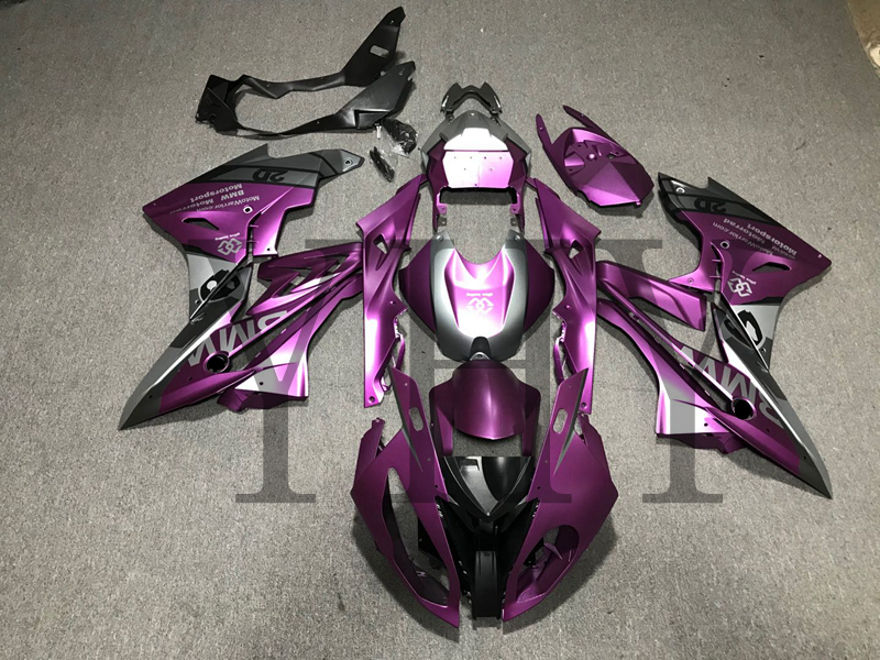 Customized Purple Black Color Fairing Kit Complete Cover ABS Frame Bodywork For BMW S1000 RR S1000RR 2018 With Rear Seat Cowl