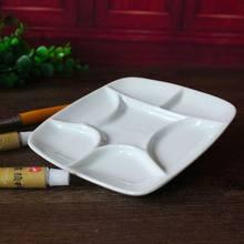 7-paleta cerâmica branca quadrada da pintura do artista do poço para o acrílico do gouache da aguarela