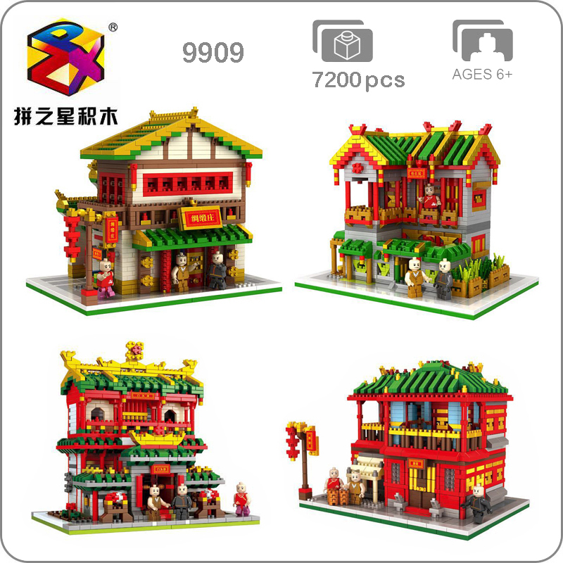 Ancient Architecture Brothel Store Shop Small Diamond Blocks Mini Building Toy