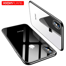цена for iPhone Xs Max XR 8 Plus Case, Ultra Thin Slim Fit Soft Silicone TPU [Anti-Yellow] Cover Phone Cover for iPhone 5 6s 7 8 Plus