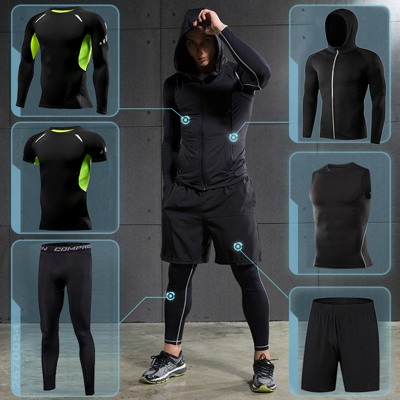 Men's Gym Training Fitness Sportswear Athletic Physical Workout Clothes Suits Running Jogging Sports Clothing Tracksuit Dry Fit