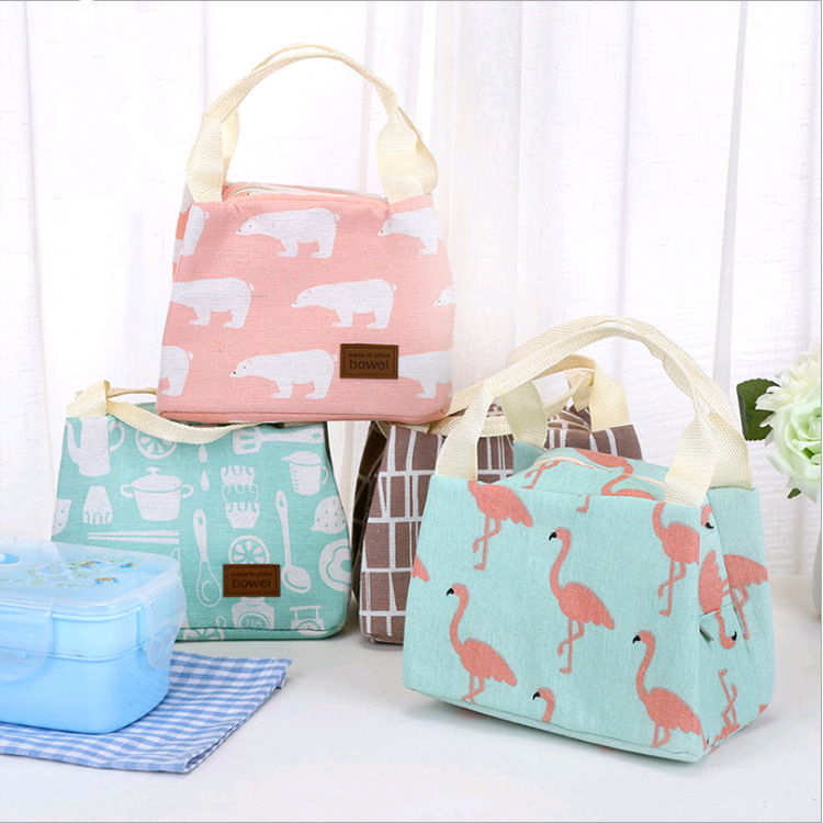 New Style Creative Cartoon Cute Insulated Cold Insulation Lunch Box Bag Portable Zipper Thick Bento Box Bag Ice Pack