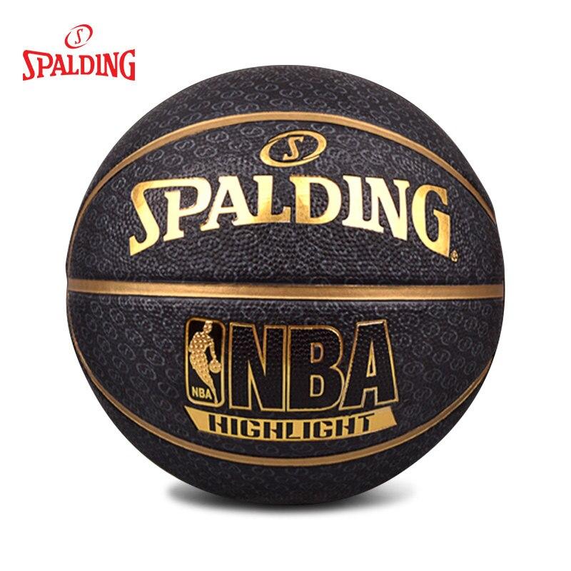 Баскетбольный мяч Spalding Официальный Размер 7 тренировочный матч мужской мяч Baloncesto Basquete Basquetbol