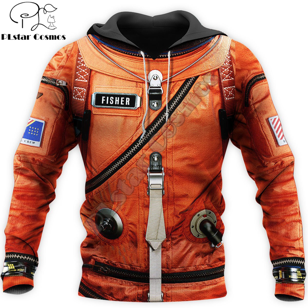 Space Suit 3D All Over Printed Mens Hoodie Harajuku Streetwear Pullover Cosplay costume Unisex Casual Jacket Tracksuit DW0147
