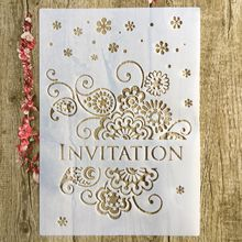 A4 DIY invitation letter layered mold scrapbook stamp album photo decoration embossed paper card template