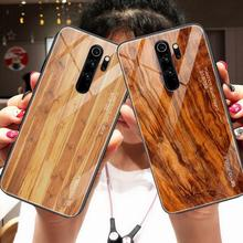 Luxury Grain Protective Glass Case For Redmi Note 8 Pro Note 8T 8t Note 8 7 Pro Phone Back Case For Xiaomi Mi9 Note 5 Pro 6 Pro cheap GDRE Fitted Case Wood Pattern Phone Case cover Armor Geometric Quotes Messages Plain Animal Floral Flamingo Anti-knock