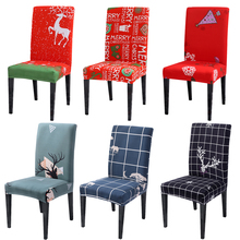 Christmas Decoration Elastic Banquet Chair Cover Slipcovers Protector Household Hotel Dining Dustproof Spandex Stretchable DR005