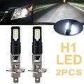 2X H1 6000K супер яркий белый лм DRL светодиодный светодиодных фар дальнего света