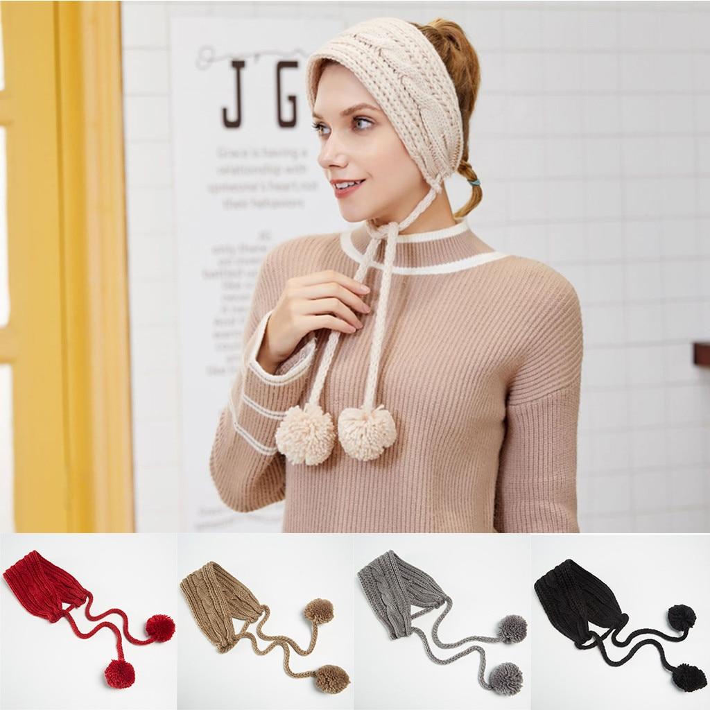 Winter 2020 Winter Lace Wool Knit Earmuffs Ladies Earmuffs Plush Warm Earmuffs Dropshipping China USA Ins Wind Fashion Selli