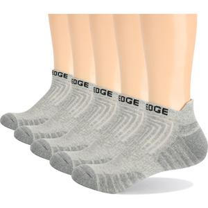 Image 3 - YUEDGE 5 Pairs mężczyźni i kobiety czarna poduszka bawełna komfort oddychająca Casual sport Running skarpetki krótkie (5 par/paczka)