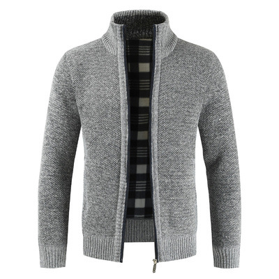 OLOME Fashion Thick Cashmere Knitted Mens Sweaters Cardigan Autumn Black Zipper Knitting Sweater Men Warm Male Cardigans 3XL