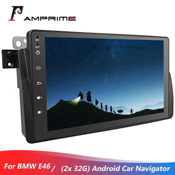 AMPrime Android 6.0 Car Stereo Radio 8''Capacitive Touch Control GPS/WiFi/FM Bluetooth with Steering Wheel Control For BMW E46 image