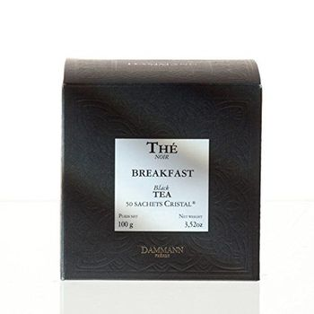 DAMMANN FRÈRES thé noir Breakfast 50 pochettes Cristal France thé black teabags фото