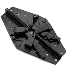 2pcs Black Steel Heavy Duty Corner Brace Joint Angle Bracket Furniture Folding Brackets  JA55 5x 3 pcs 125mm x 125mm corner brace joint right angle bracket