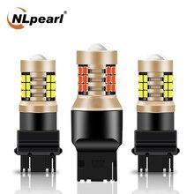 NLpearl 2X Signal Lamp T25 3157 P27/7W Led Car Bulbs 2835SMD P27W 3156 Led Auto Turn Signal Light Reverse Light 12V White Red