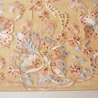 Gold thread Sequin embroidery fabric Beautiful flowers embroidered tissu Soft screen lace dress clothing tissus