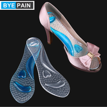 1Pair BYEPAIN Foot Massage Care Non-Slip Sandals Pads Silicone Gel High Heel Shoes Support Pads Arch Cushion Insole 1 2 pairs of high heeled shoes cushion non slip silicone embellished invisible insole with heel socks