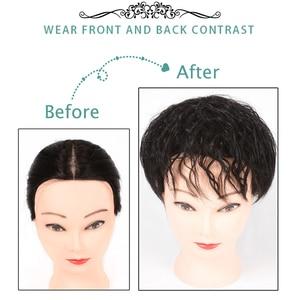 Парик из натуральных волос AILIADE с челкой увеличит количество волос на верхней части головы, чтобы покрыть волосы белого цвета