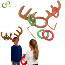 Toys Reindeer Christmas-Holiday Inflatable Santa Party Ring Toss Game-Supplies Antler-Hat