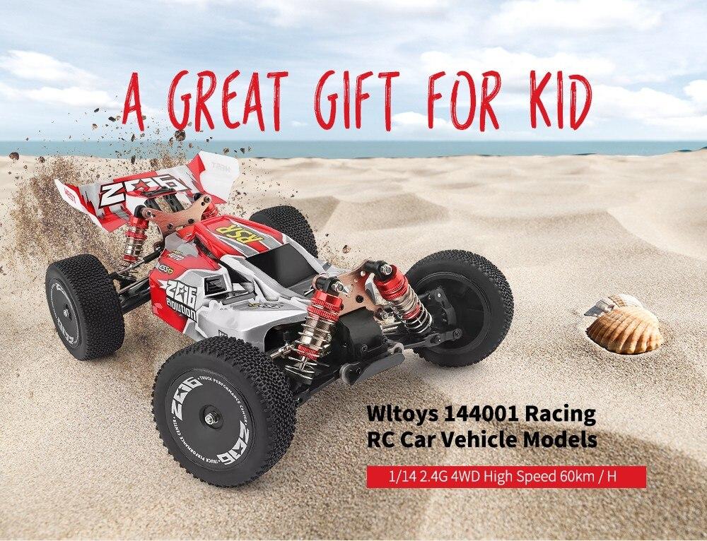 High Speed 60km/h Wltoys 144001 Racing RC Car Vehicle Models 1/14 2.4G 4WD 1500mAh Brushed Motor Crawler Car Outdoor Toys Gift