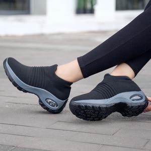 Image 4 - Uberu baskets souple en tissu volant pour femmes, chaussures de course confortables et respirantes, tailles 35 à 42, décontracté