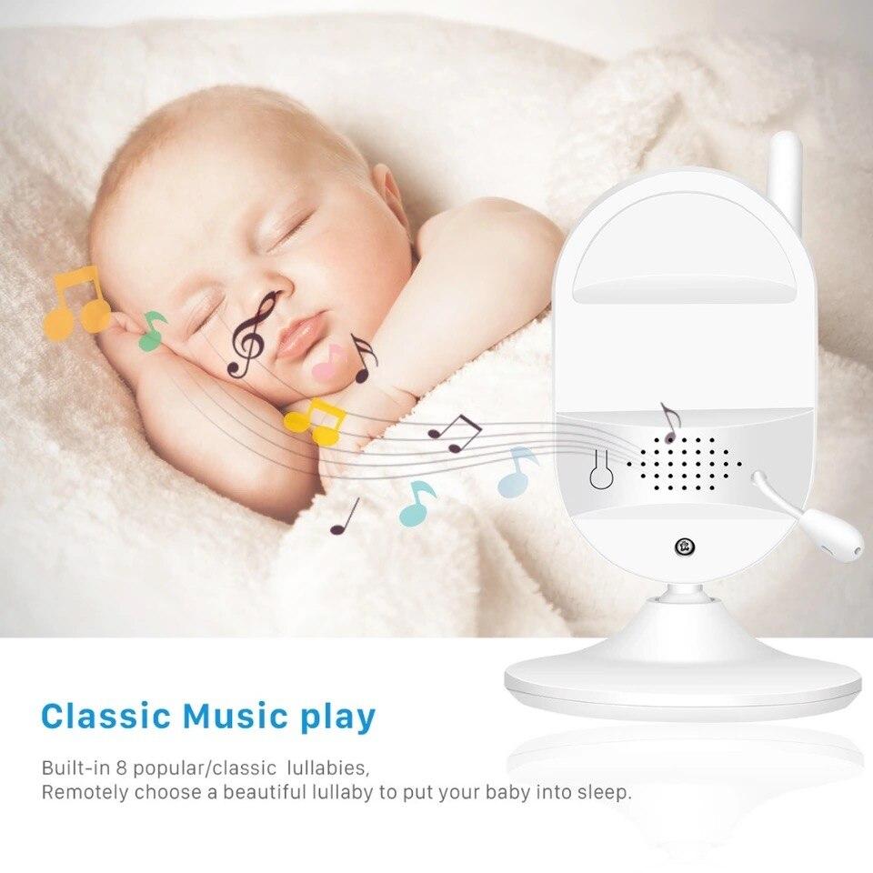2.4GHz bezprzewodowa elektroniczna niania 3.5 cal kolorowy wyświetlacz dla dzieci niani aparat bezpieczeństwa monitorowanie temperatury w nocy