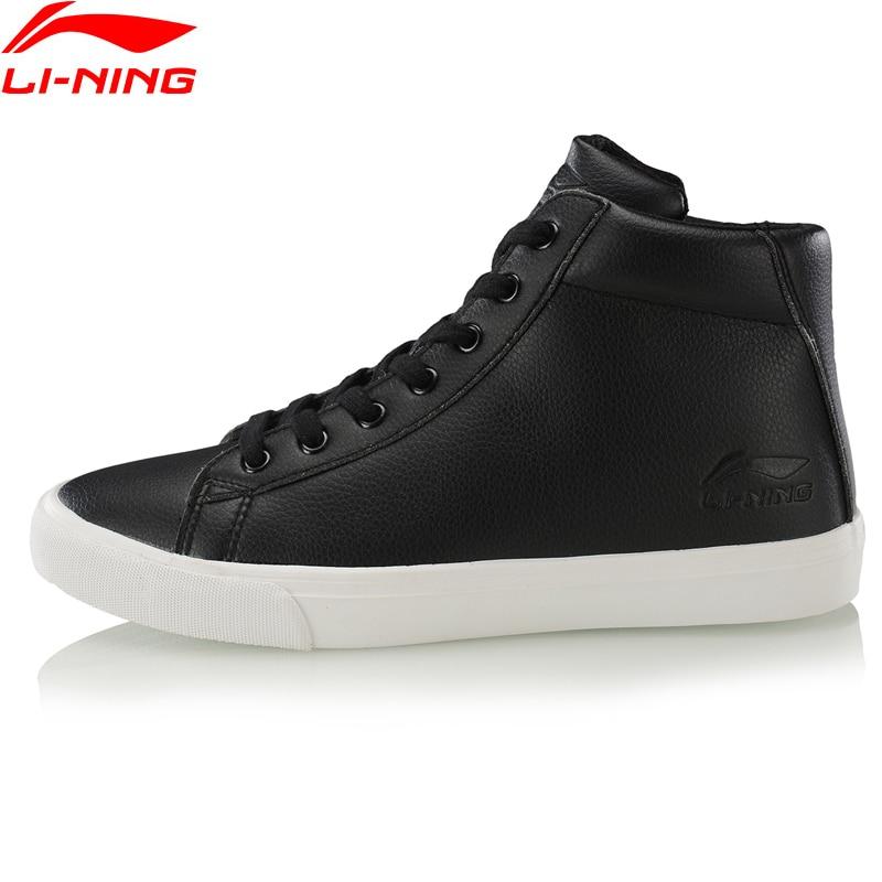 Li-Ning Men VULC LITE WINTER Stylish Lifestyle Shoes Winter Fleece Wearable LiNing Fitness Sport Shoes Sneakers AGLP105 YXB334