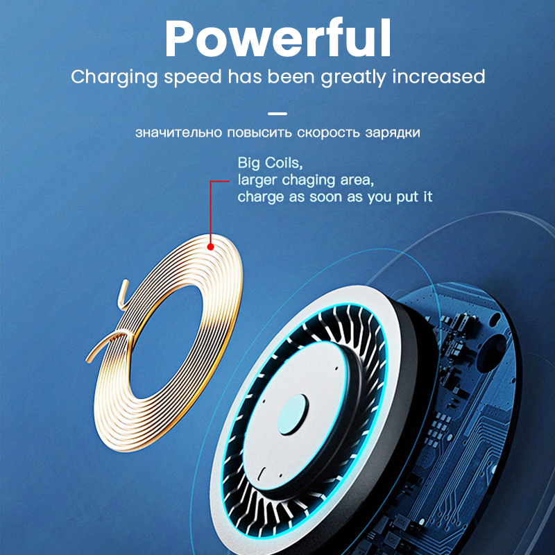 Image 4 - iONCT 10W Fast Wireless Charger for iPhone 11 pro 8 X XR XS  wirless Charging for Samsung phone USB Qi charger wireless pad  IN039Wireless Chargers