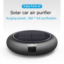 Air Filter HEPA Filter Solar Air Purifier Car Air Anion Ionic Purifier Oxygen Bar Ozone Ionizer Interior Accessory Airs Cleaner air purifier freshener oxygen bar filter for car 12 24v