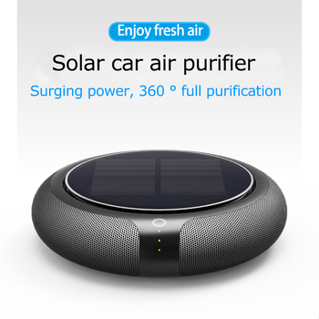 HEPA Filter Solar Purifier Car Air Freshener Auto Purifier Air Conditioner Diffuser Remove Formaldehyde Anion Ionic Air Cleaner gf600 25 port g1 semi auto drain air cleaner filter source treatment unit