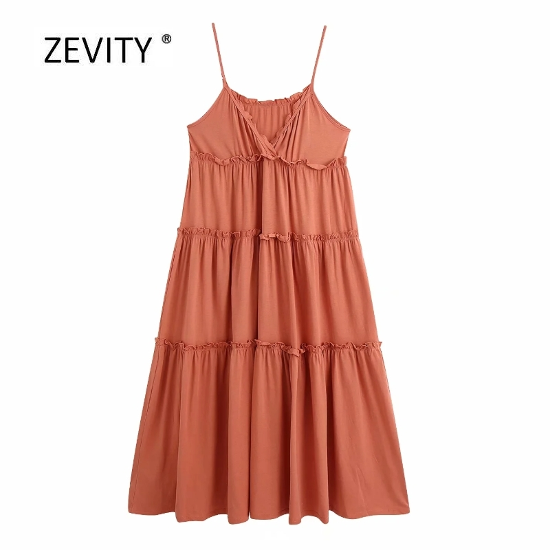 2020 women sexy v neck agaric lace solid color long sling dress female spaghetti strap casual vestidos chic party dresses DS3878
