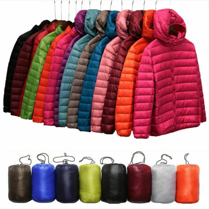 2019 New Fashion Women's Uniqlo Style Duck Down Lightweight Jacket Winter Outerwear Coat Puffer Two Size Smaller