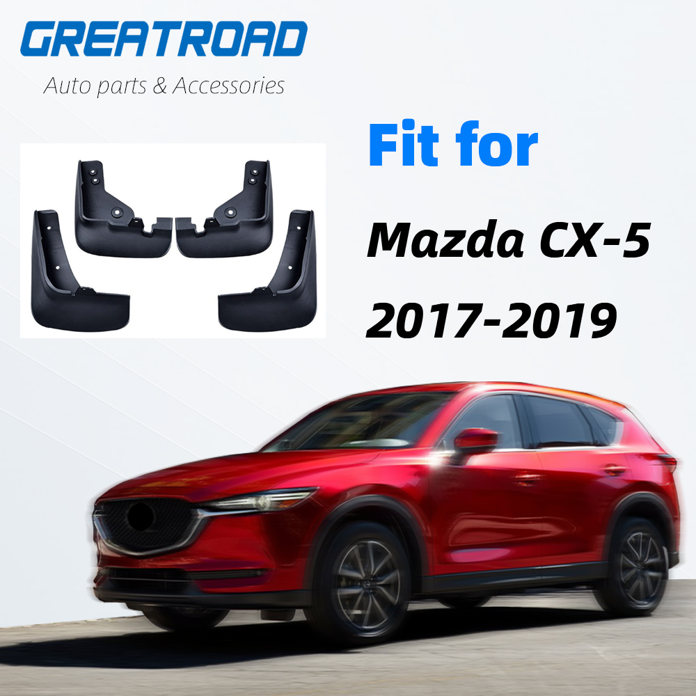 Front Rear Car Mud Flaps For <font><b>Mazda</b></font> CX-5 <font><b>CX5</b></font> 2nd Gen KF 2017 2018 2019 Mudflaps Splash Guards Mud Flap Mudguards Car <font><b>Accessories</b></font> image
