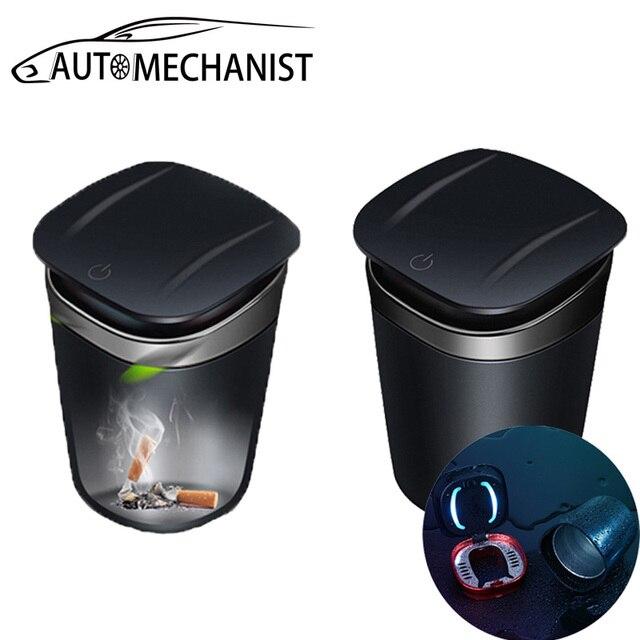 Tragbare LED Auto Aschenbecher Rauchfreien Auto Aschenbecher Zigarette Aschenbecher Für Auto Auto Rauch Halter Autos Trash Zubehör