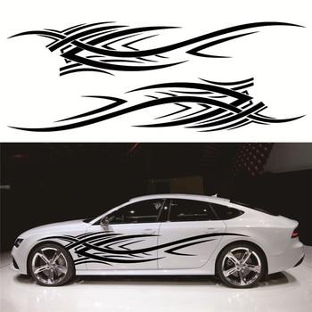Chunmu 2 sztuk 2.4m płomień Totem naklejki samochodowe naklejki Full Body winyl do stylizacji samochodu naklejka naklejka na samochody dekoracji mocny klej