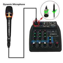 4 Channels EU/ US Plug USB Audio Mixer Audio Mixer Sound Mixing Console Bluetooth Record Stage Meeting Live Broadcast Suppplies