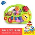 HOLA 927 Baby Spielzeug Lernen Maschine Spielzeug mit Lichter & Musik & Lernen Geschichten Spielzeug Musical Instrument für Kleinkind 6 monat +
